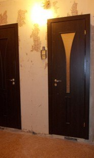 Двери в 137 серию в ванную и туалет поставить срочно
